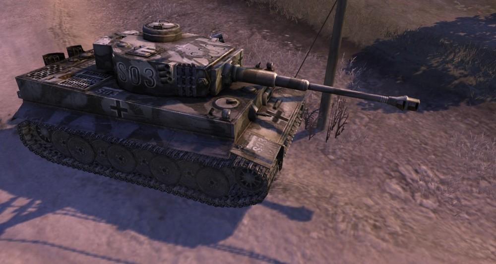 Tiger Tank Advancing